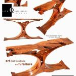 Walker Curve  Mesquite Entry Table Best Texas Style Furniture  Texas Furniture Makers Show 2014