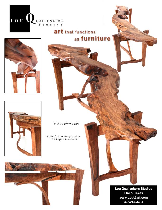 ... Susan Mesquite Entry Table Best Texas Style Furniture Texas Furniture  Makers Show 2013 ...